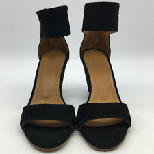 Coclico Black Suede Ankle Strap Wedges Size 40/10