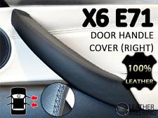 Passenger Door Handle BMW X6 E71 E72 Leather Cover - (Black Stitch, RIGHT)