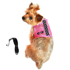 Cool Mesh Dog Harness Under the Sea Collection - Sunglasses Pink and Black XS-L
