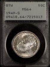 HIGH GRADE PCGS MS64 1949-S BOOKER T WASHINGTON HALF DOLLAR. VINTAGE RATTLER!