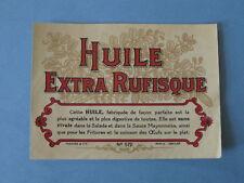 etiquette ancienne Huile extra Rufisque