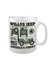 New Design Willys Jeep World War 2 MUG UK Printed WW2 US Marines SAS Army Rifle