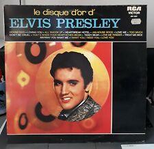 LP Elvis Presley  Le Disque D'or D'Elvis Presley - RCA Victor  461 037 EX/Mint