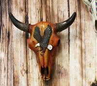 """10.5"""" Steer Bison Buffalo Bull Cow Skull with Eagle Design Wall Mount Decor"""