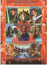 STAR WARS THE PHANTOM MENACE MNH STAMP SHEET