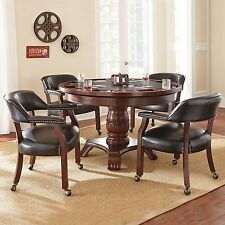 Steve Silver TU5050GTBTB Company Tournament Dining and Game Table - Black NEW