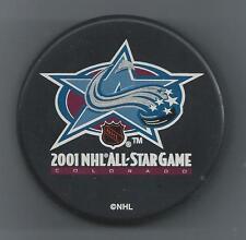 2001  NHL All-Star Game  Colorado  Souvenir Hockey Puck