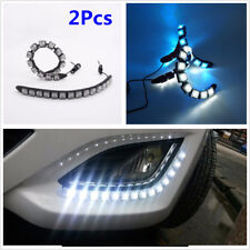 Piar 14LED Ice Blue Car SUV Flexible LED Daytime Running Light With Turn Signal