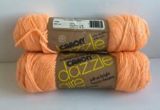 Vtg USA Caron Dazzle Aire Yarn Orange Ice 2645 Dazzleaire 4ply 3oz 60% 40% Nylon