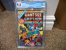 Captain America GIANT SIZE 1 cgc 9.2 ow white pages 1975 Marvel movie Kirby Lee
