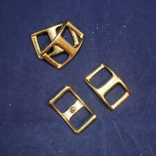 """5/8"""" Conway Buckle Assortment Pack - Solid Brass - Set of 4 (F141)"""