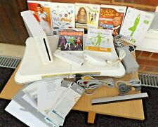 Nintendo Wii Console With 7 Games Inc Wii Fit Board - VGC