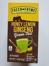 Fresh Thyme Honey Lemon Ginseng Green Tea 20 Bags