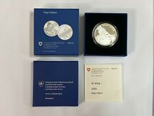 Roger Federer Commemorative Silver Swissmint Coin (Proof, with box/certificate)