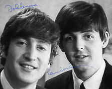 BEATLES! LENNON & McCARTNEY AUTOGRAPHS 8x10 Photograph Rock Pop Icons Fab Four