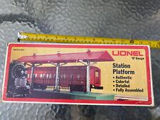 LIONEL 6-2256 O GAUGE STATION PLATFORM FULLY ASSEMBLED IN BOX