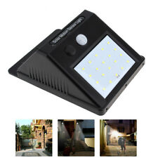 New 20LED Solar Power PIR Motion Sensor Wall Light Outdoor Waterproof Home Lamp