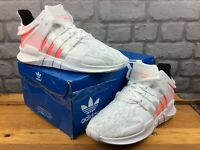 ADIDAS LADIES UK 4 EU 36 2/3 EQT SUPPORT ADV J WHITE PINK RUNNING TRAINERS M