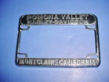 Harley Davidson Dealer Advertising License Plate Frame Pomona Ca 6275