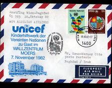 "ENVELOPPE Timbrée ""NATIONS UNIES"" Oblitération Flamme postale RATINGEN en 1982"