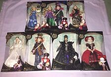 8x DISNEY ALICE THROUGH THE LOOKING GLASS 12 Inch Collector Dolls MAD HATTER ++