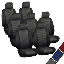 VAN Sitzbezüge Sitzbezug Schonbezüge VW Sharan Touran 7x Set Schwarz/Grau 7231