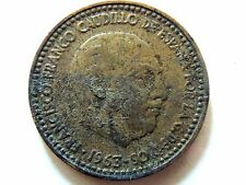 1963 Spanish One (1) Peseta Coin