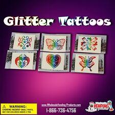 """250 Glitter Tattoos In 2"""" Vending Capsules"""