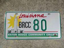 Louisiana Baton Rouge Comm. College license plate #     80