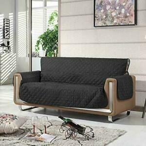 Sofa Chair Protector Cover BLACK 3-Seat Sofa Cover Barrier Protective Layer