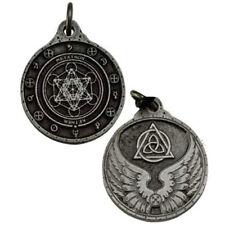 "NEW Metatron Archangel Talisman Pewter 1.25"" Amulet Pendant Magic Hexagram"