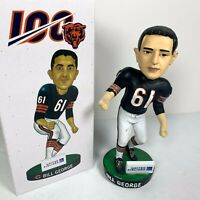 Bill George Bobblehead Chicago Bears 100 Year Giveaway 8/29/19 With Box SGA