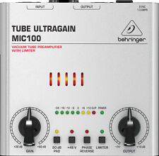BEHRINGER MIC100 TUBE ULTRAGAIN PREAMPLIFICATORE MICROFONICO
