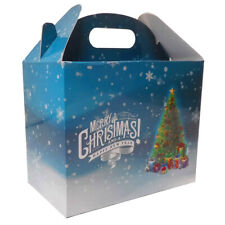 10 x CHRISTMAS TREE GABLE GIFT BOXES - XMAS Presents Gift Hamper Box Sweet Box