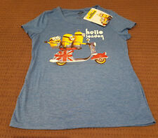 DESPICABLE ME MINIONS AWESOME T-SHIRT TOP LADIES M Authentic *NEW* Rare SALE!