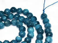 """Charming 4mm Faceted Brazil Aquamarine Round Gems Loose Beads 15 """"AA"""