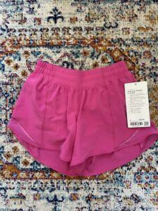 """NWT Lululemon Hotty Hot 4"""" Shorts Sonic Pink size 4!!"""