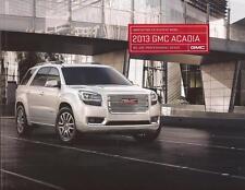 2013 13  GMC Acadia  original sales  Brochure MINT