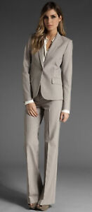 NWT THEORY Blazer Gabe B $395 & Pant Max C $265 Suit Set HEATHER BARLEY Sz 4