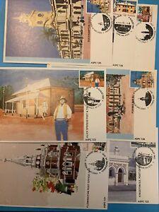 1982 - HISTORIC AUSTRALIAN POST OFFICES - 7v Maxi Card set (4/8/82) ZZ