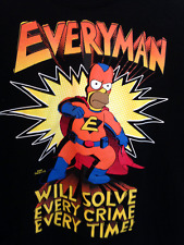 HOMER SIMPSON Superhero T-shirt Large The Simspons