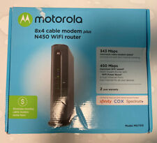 Motorola MG7315 8x4 343 Mbps DOCSIS 3.0 Cable Modem Plus N450 Wi-Fi Router Black
