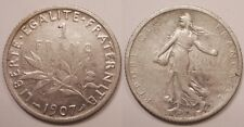 1 Franc argent Semeuse, 1907 !!