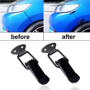 2pcs Car Bumper Trunk Fender Hatch Lids Quick Release Fastener Clip Lock Catch.
