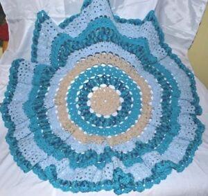 Hand Crochet Round Baby Shawl/Blanket