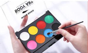 Face Painting Kit 8 Colors Face Palette  Face & Body Paint  W/ Makeup Brush