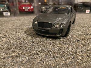 Welly 1:24 Bentley Continental Supersports Diecast Model Racing Car Gray NIB