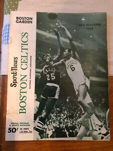 1968 NBA Championship Program Tickets Boston Celtics vs LA Lakers Game 5 @Boston