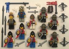 10 Lego Lion Knights Minifigs Lot: castle figures kingdom royal king guys