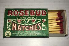 Vintage ROSEBUD Strike on Box Safety Matches - Damp Proof - Estate Find